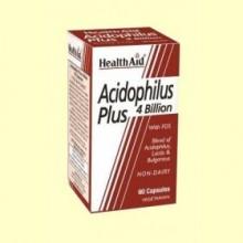 Acidophilus Plus (4000 millones) - 60 cápsulas - Health Aid