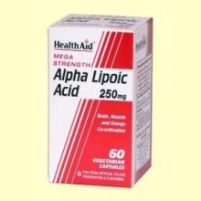 Ácido Alfa Lipoico 250 mg - 60 cápsulas - Health aid
