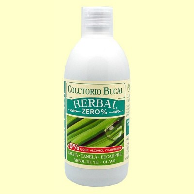 Colutorio Bucal Herbal Zero% - 500 ml - Natysal