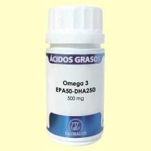 Omega 3 EPA50 DHA250 500 mg - 60 cápsulas - Equisalud