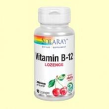 Vitamina B-12 2000 mcg - Sabor Cereza - Solaray - 90 comprimidos