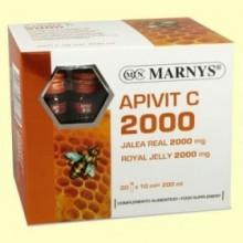Apivit C 2000 mg - Jalea Real y Vitamina C - 20 ampollas - Marnys