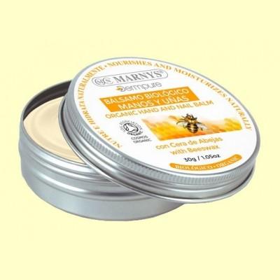 Bálsamo Manos y Uñas Bio con cera de abejas - 30 gramos - Marnys