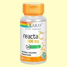 Reacta C 500 mg - Vitamina C no ácida - 60 cápsulas vegetarianas - Solaray *