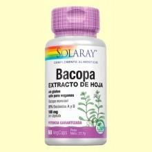 Bacopa 100 mg - 60 cápsulas vegetales - Solaray