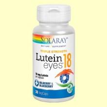 Lutein Eyes 18 mg - 30 cápsulas vegetales - Solaray