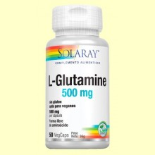 L-Glutamine 500 mg - 50 cápsulas - Solaray