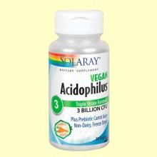 Acidophilus - Solaray - 30 cápsulas - Ayuda digestiva