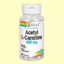 Acetyl L-Carnitine 500 mg - 30 cápsulas - Solaray