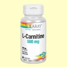 L-Carnitine / L-Carnitina 500 mg - Solaray - 30 cápsulas