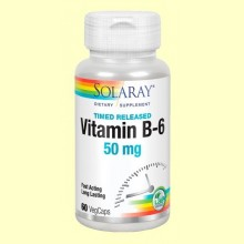 Vitamina B-6 50 mg - 60 cápsulas - Solaray