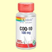 CoQ10 100 mg - Coenzima Q10 - 30 perlas - Solaray