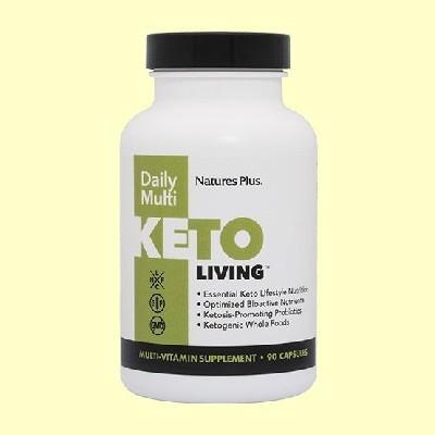 KetoLiving Daily Multi - 90 cápsulas - Natures Plus