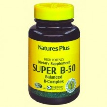 Super B-50 - 60 cápsulas - Natures Plus