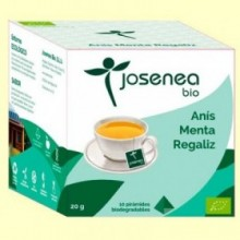 Anís Menta Regaliz Bio - 10 pirámides - Josenea