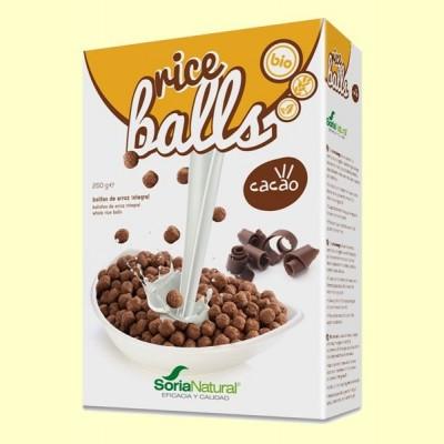 Rice Balls Bolitas de Arroz Integral con Cacao - 250 gramos - Soria Natural