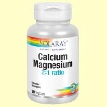 Calcio y Magnesio - 90 cápsulas - Solaray