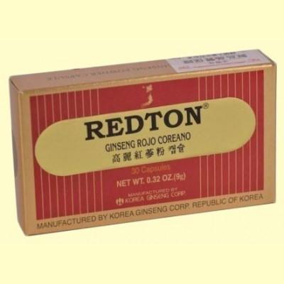 Redton Ginseng Rojo Coreano - 30 cápsulas - Robis Laboratorios
