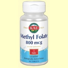 Methyl Folate 800 mcg - 90 comprimidos - Laboratorios Kal