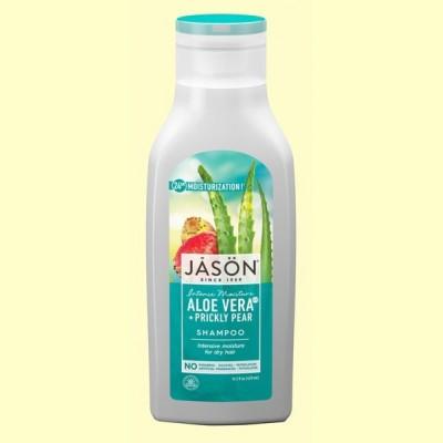 Champú de Aloe Vera 80% y Aceite de Nopal - 473 ml - Jason