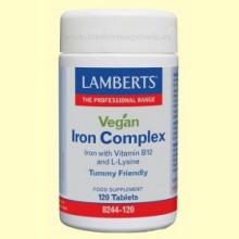 Iron Complex - Hierro para Veganos - 120 tabletas - Lamberts
