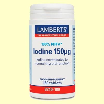 Iodine 150 µ - Yodo Yoduro de Potasio - 180 tabletas - Lamberts