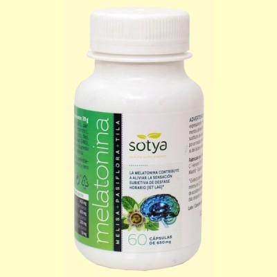 Melatonina - 60 cápsulas - Sotya