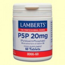 P5P Piridoxal 5 Fosfato - 60 comprimidos - Lamberts