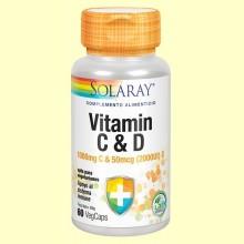 Vitamin C y D - 60 cápsulas - Solaray