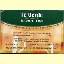 Té Verde - 20 filtros - Soria Natural