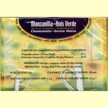 Manzanilla con anís verde - 20 filtros - Soria Natural