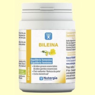 Bileina - Aceite de Onagra virgen y vitamina E natural - 180 perlas - Nutergia