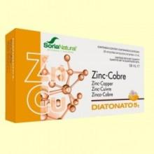 Diatonato 5/1 - Zinc y Cobre - 28 ampollas - Soria Natural