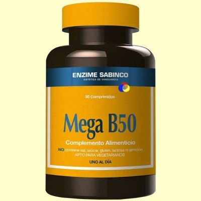 Mega B50 - Sistema Nervioso - 50 cápsulas - Enzime Sabinco