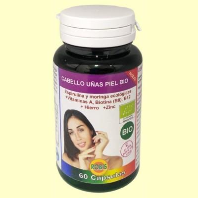 Cabello Uñas Piel Bio - 60 cápsulas - Robis Laboratorios