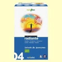 Amanecer Radiante - Infusión Bio - 20 filtros - Novadiet