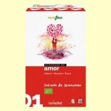 Flechazo de Amor - Infusión de Hibisco Manzana y Rosas Bio - 20 filtros - Novadiet