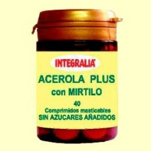 Acerola Plus con Mirtilo - 40 comprimidos - Integralia
