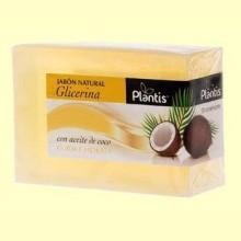 Jabón Natural Glicerina Coco - 100 gramos - Plantis