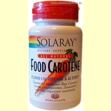 Food Carotene 30 perlecaps de SOLARAY Vitaminas