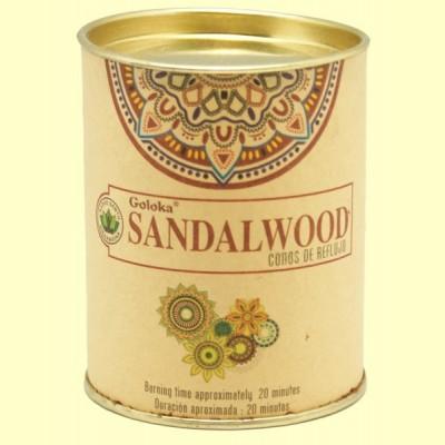 Conos de Incienso Sandalwood - 18 conos - Goloka