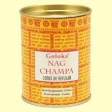 Conos de Incienso Nag Champa - 18 conos - Goloka