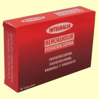 Memorandum Fosfatidilserina - 45 cápsulas - Integralia