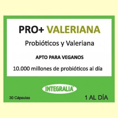 Pro+ Valeriana - Probióticos - 30 cápsulas - Integralia