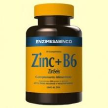 Zinseis - Zinc + Vitamina B6 - 60 comprimidos - Enzime Sabinco