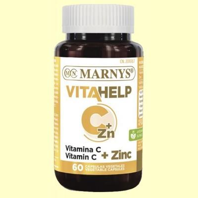 Vitahelp Vitamina C y Zinc - 60 cápsulas - Marnys