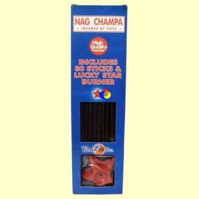 Nag Champa - 30 sticks + base forma estrella - Tierra 3000