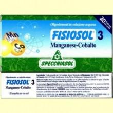 Fisiosol 3 Oligoelemento Manganeso-Cobalto - 20 ampollas - Specchiasol
