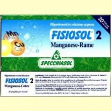 Fisiosol 2 Manganeso Cobre - 20 ampollas - Specchiasol