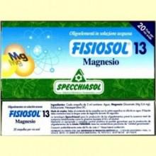 Fisiosol 13 Magnesio - 20 ampollas - Specchiasol